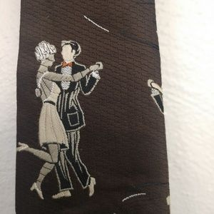 Vintage Allison Carter England Dancing Men Tie